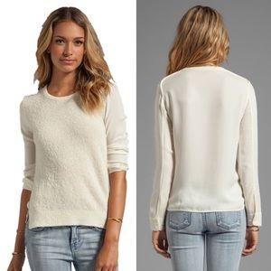 Theory Cream Rolleena Sweater Blouse
